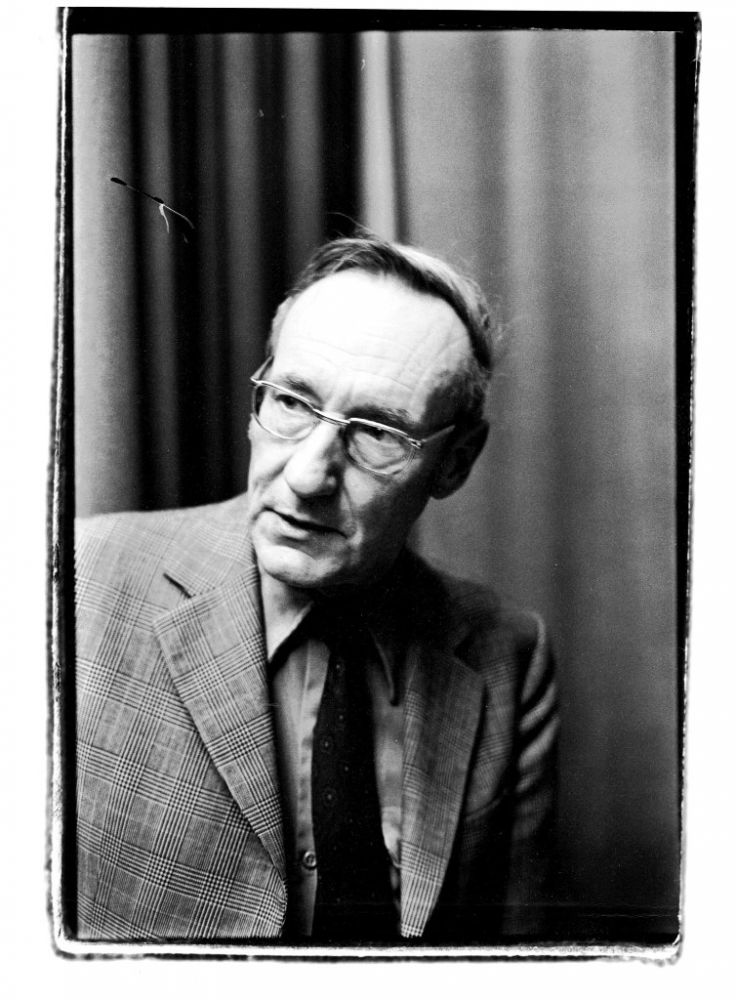 An Original Photograph of William S. Burroughs. William S. Burroughs.