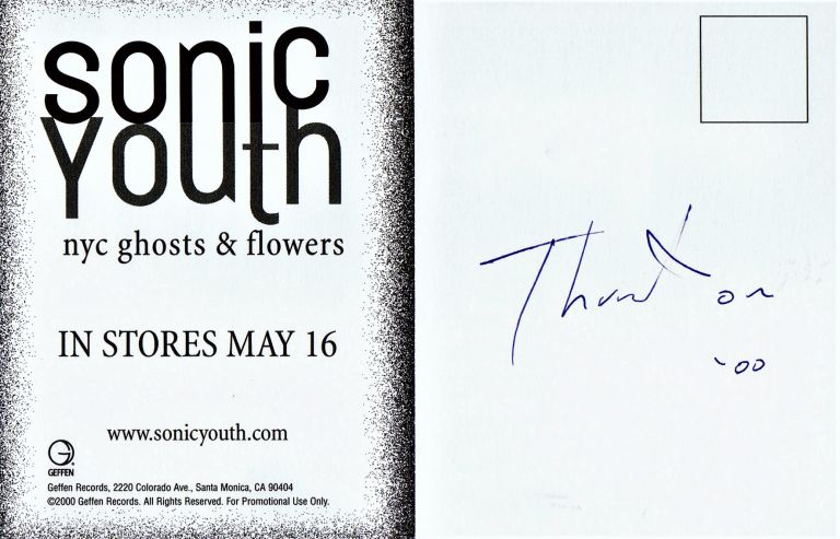 NYC Ghosts & Flowers Postcard. William S. Burroughs, Thurston, Moore