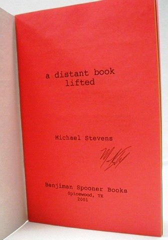 A Distant Book Lifted. William S. Burroughs, Michael, Stevens