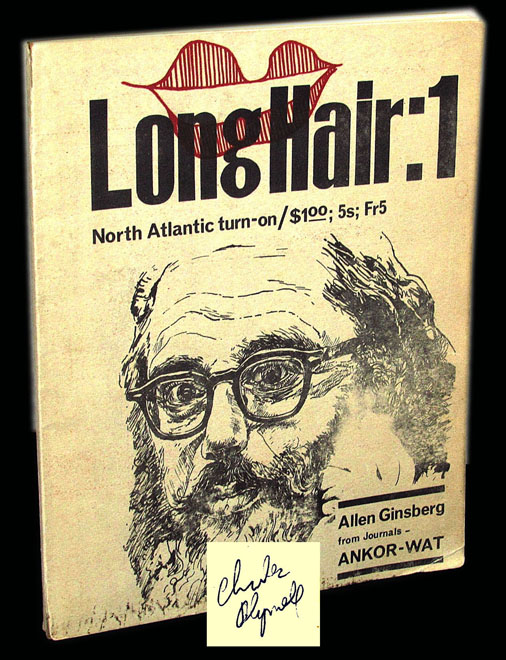 Long Hair Number 1. Allen Ginsberg, Charles, Plymell
