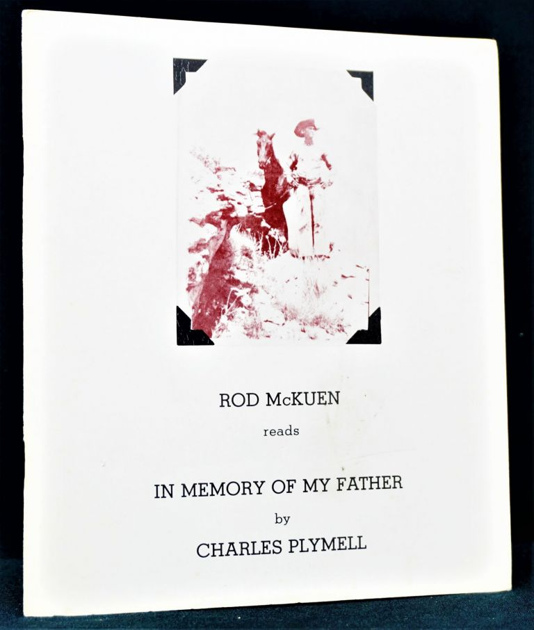 Rod McKuen Reads In Memory of My Father By Charles Plymell. Charles Plymell, Rod, McKuen