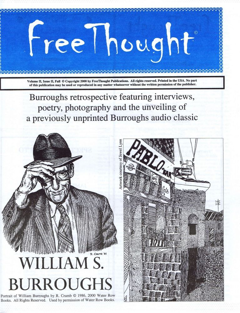 Free Thought Volume II, Issue II. William S. Burroughs, Gary Aposhian, managing