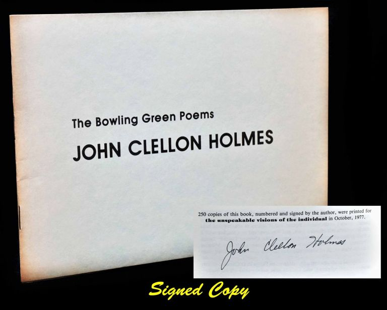The Bowling Green Poems. John Clellon Holmes.