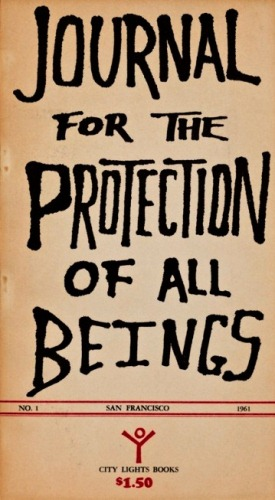 Journal for the Protection of All Beings No. 1. City Lights, Burroughs.