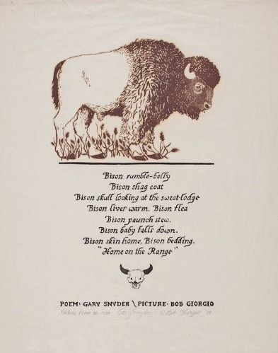 Bison Rumble-Belly. Gary Snyder.