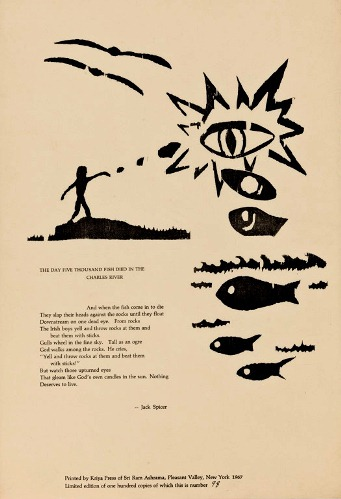 The Day Five Thousand Fish Died in the Charles River. Jack Spicer.