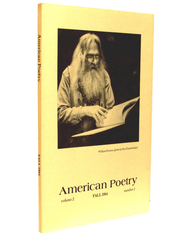 American Poetry, Vol. 2, No. 1, Fall 1984