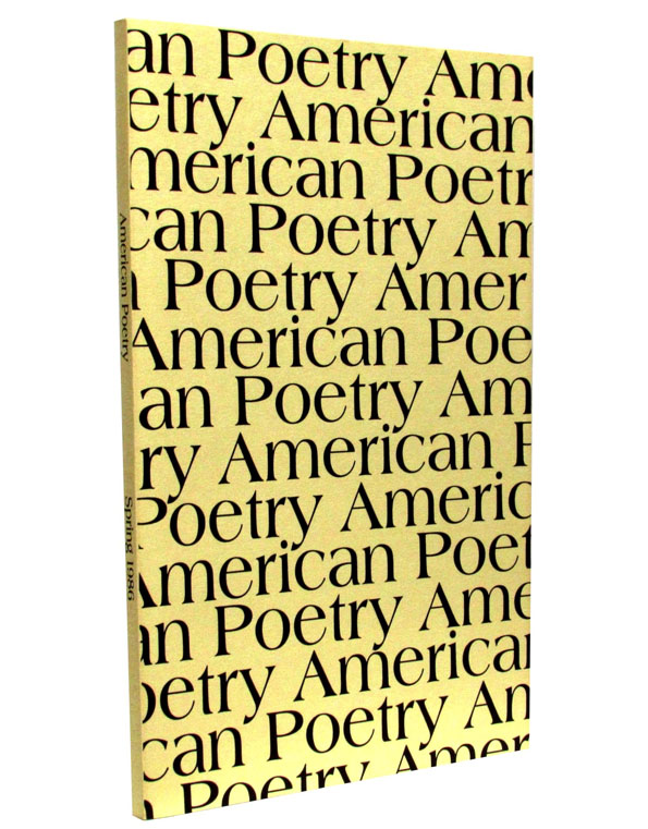 American Poetry, Vol. 3, No. 3, Spring 1986. Robert Frost, David Ignatow, Wallace Stevens.