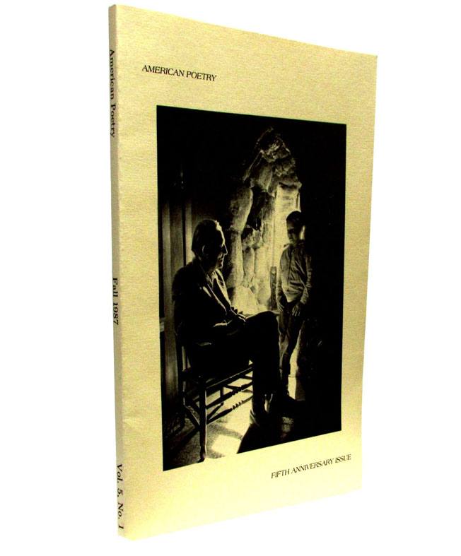 American Poetry, Vol. 5, No. 1, Fall 1987. Eva Hesse, Robinson Jeffers, Robert Peters