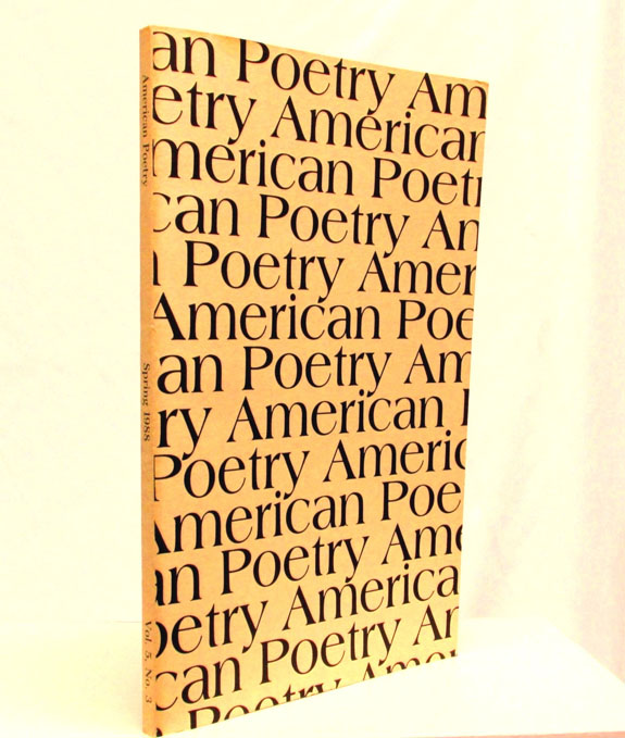 American Poetry, Vol. 5, No. 3, Spring 1988. Eva Hesse, Thomas McGrath, William Carlos Williams.