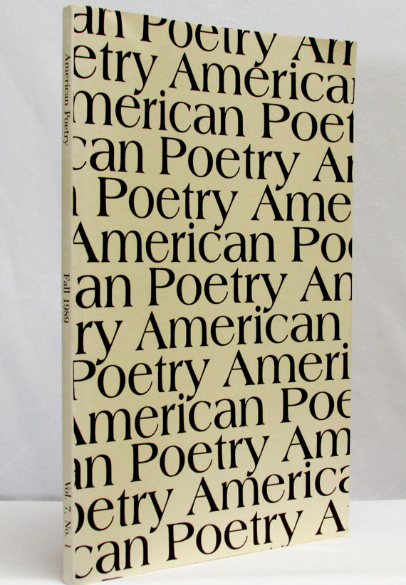 American Poetry, Vol. 7, No. 1, Fall 1989. Paul Goodman, James Laughlin, Kenneth Rexroth