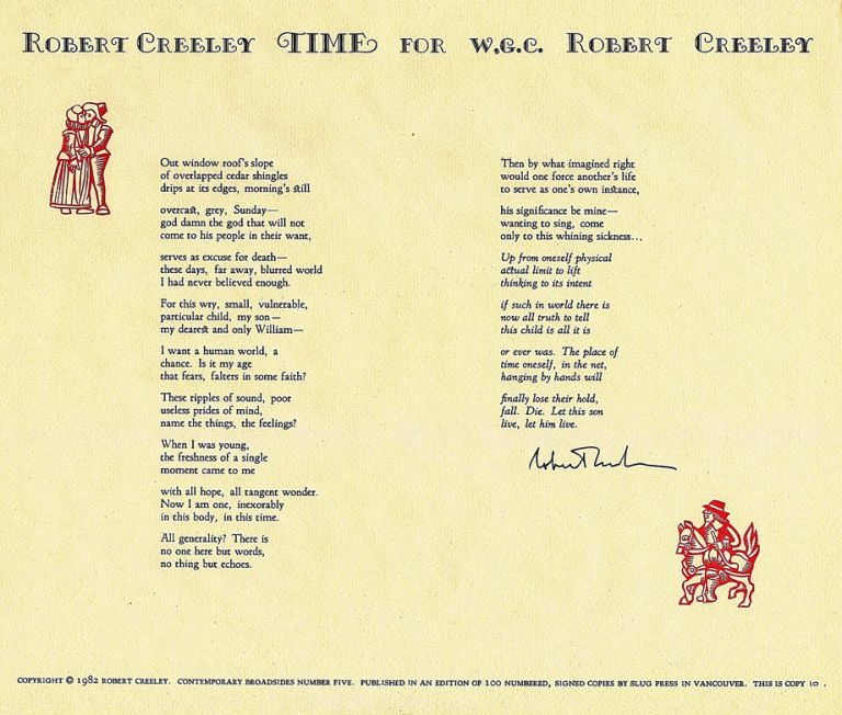 Time: For W.G.C. Robert Creeley.