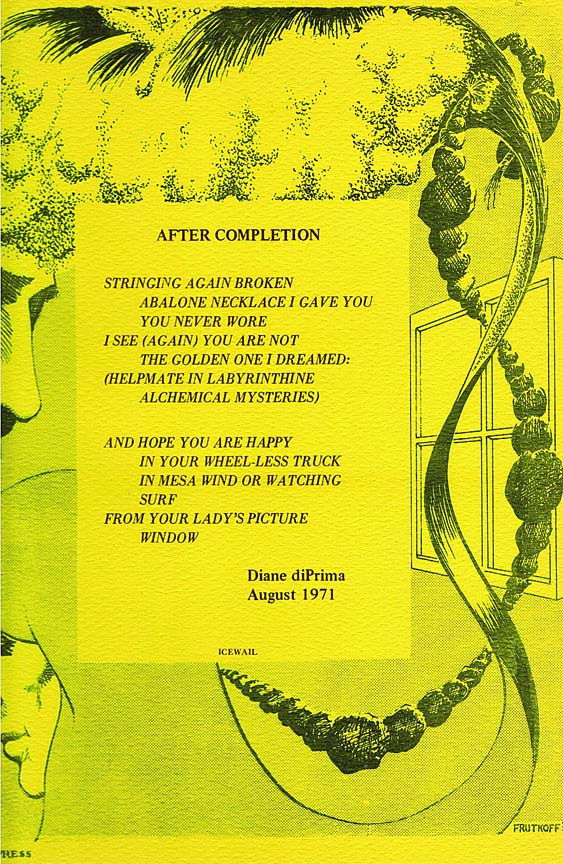 After Completion. Diane di Prima
