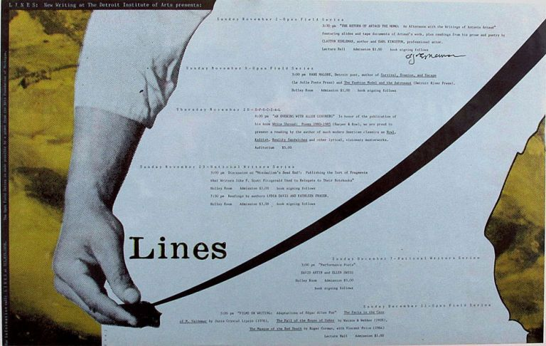 LINES: New Writing at the Detroit Institute of Arts Presents An Afternoon with the Writings of...