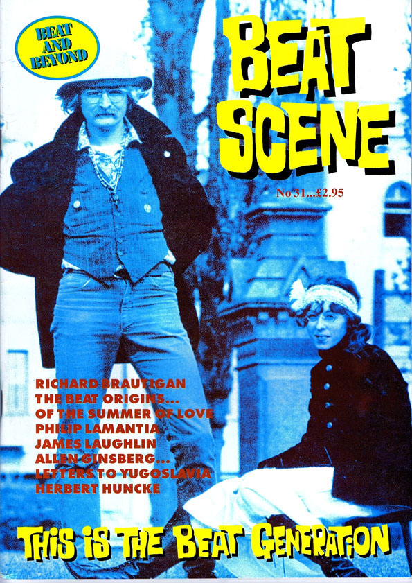 Beat Scene No. 31. Richard Brautigan, William S. Burroughs, Allen Ginsberg, Herbert Huncke, Jack...