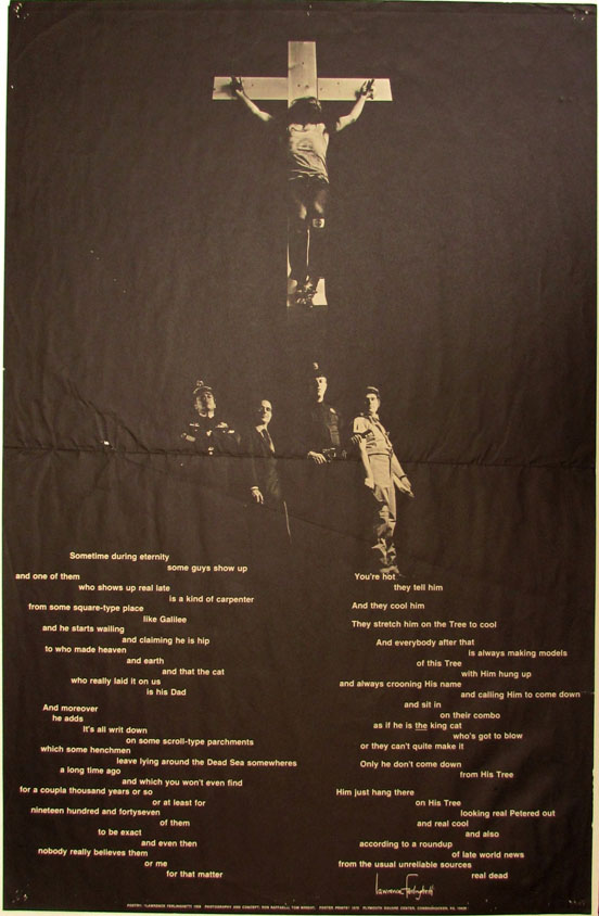 "Poster: Poem ""#5"" from Coney Island of the Mind. Lawrence Ferlinghetti."