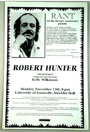 Appearance Announcement Broadside. Robert Hunter