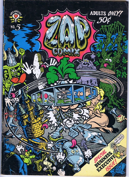 Zap Comix No. 5. Robert Crumb, Rick Griffin, Victor Moscoso, Spain Rodriguez, Gilbert Shelton, Robert Williams, S. Clay Wilson.