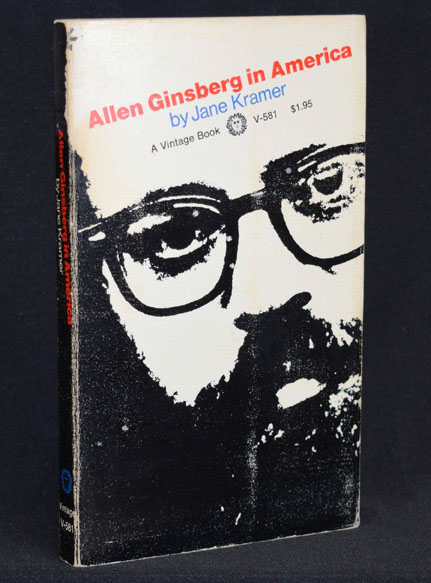 Allen Ginsberg in America, First Softcover Edition; with: Promotional Board for New Edition. Jane Kramer, Allen Ginsberg.