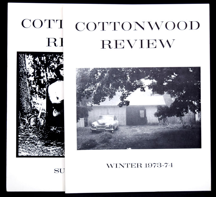 Cottonwood Review, Winter 1973-74; Summer 1974 (two issues). Allen Ginsberg