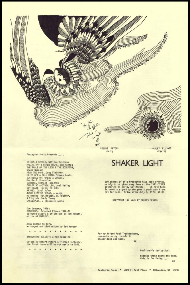 Shaker Light. Robert Peters.