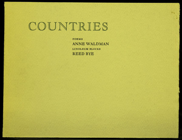 Countries. Anne Waldman.