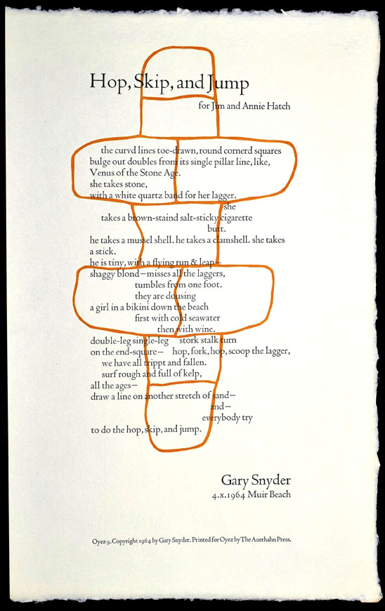 Hop, Skip and Jump. Gary Snyder.