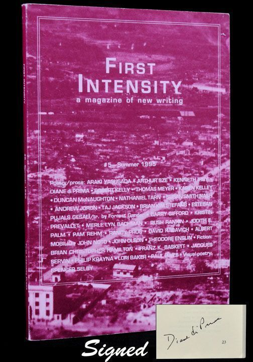 First Intensity: A Magazine of New Writing, #3- Summer 1994. Diane di Prima