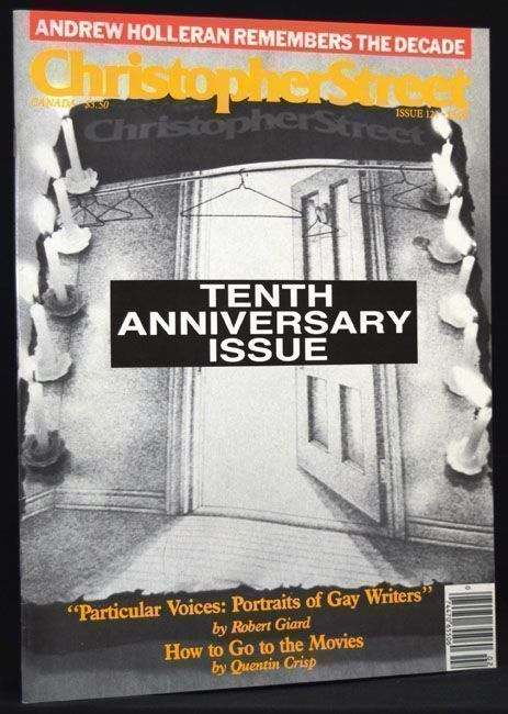 Christopher Street, Issue 121, Vol. 11, No. 1, April 1988. William S. Burroughs, Quentin Crisp,...