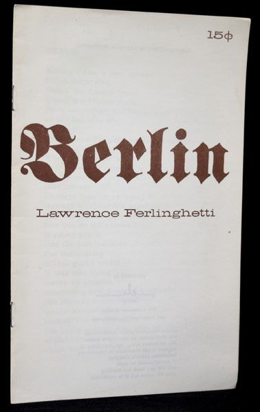 Berlin. Lawrence Ferlinghetti.