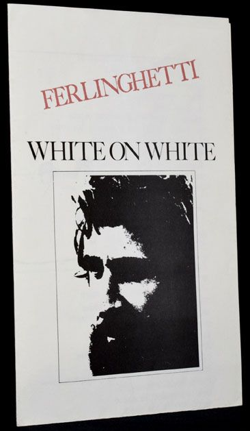White on White broadside with: Flyer announcing Reading and Performances. Lawrence Ferlinghetti