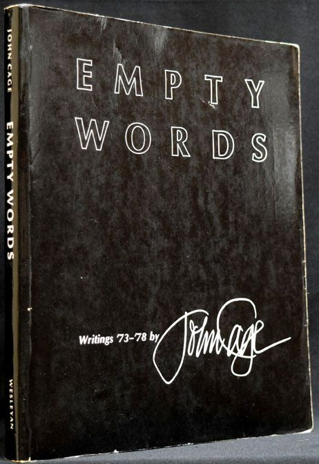 Empty Words. John Cage