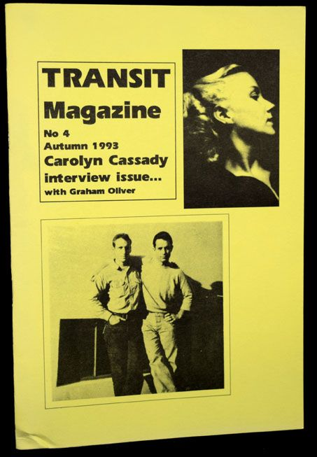Carolyn Cassady Interview Issue...with Graham Oliver. Graham Oliver, Carolyn Cassady.