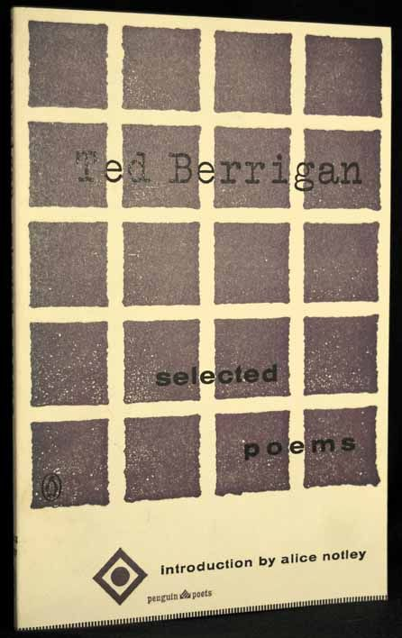 Selected Poems. Ted Berrigan
