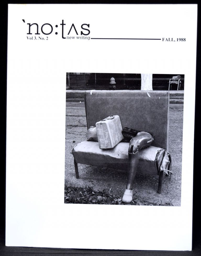 NOTUS new writing, Vol. 3, No. 2, Fall 1988 OtherWind (including Soundsheet). Robert Kelly, Jerome Rothenberg, Lewis Warsh.