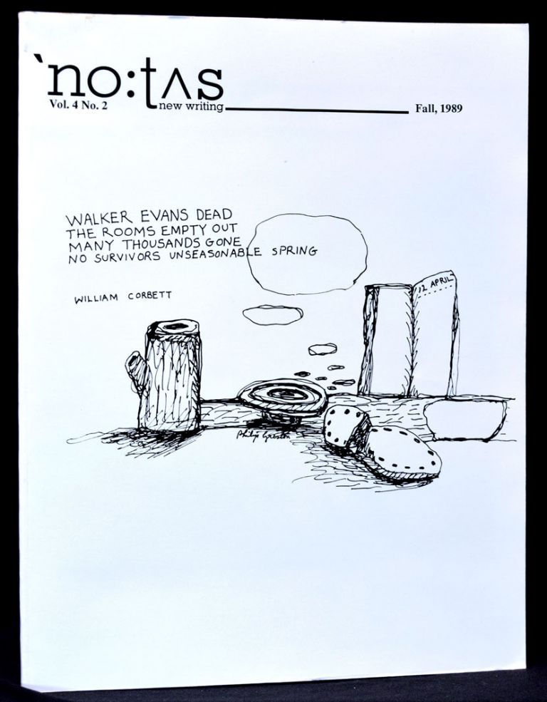 NOTUS new writing, Vol. 4, No. 2, Fall 1989 (including Soundsheet). Paul Blackburn, Mike Boughn,...