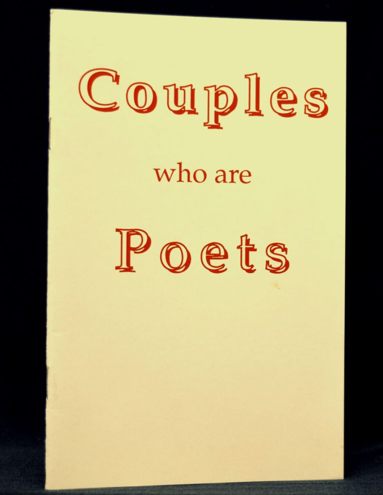 Couples who are Poets. Frances C. Fernandez, Jack Grapes, Robert Peters, Paul Trachtenberg