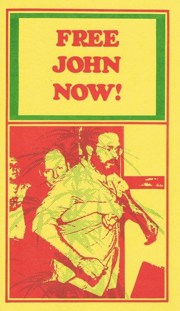FREE JOHN NOW! Postcard. John Sinclair.