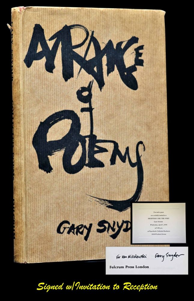 "A Range of Poems with: ""Invitation to Reception for the Poet"" Gary Snyder."