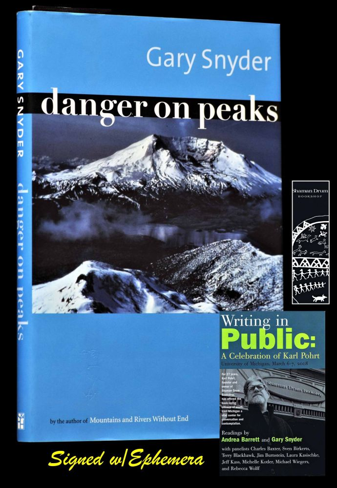 Danger on Peaks with: Postcard-Flyer for a Celebration of Karl Pohrt. Gary Snyder.