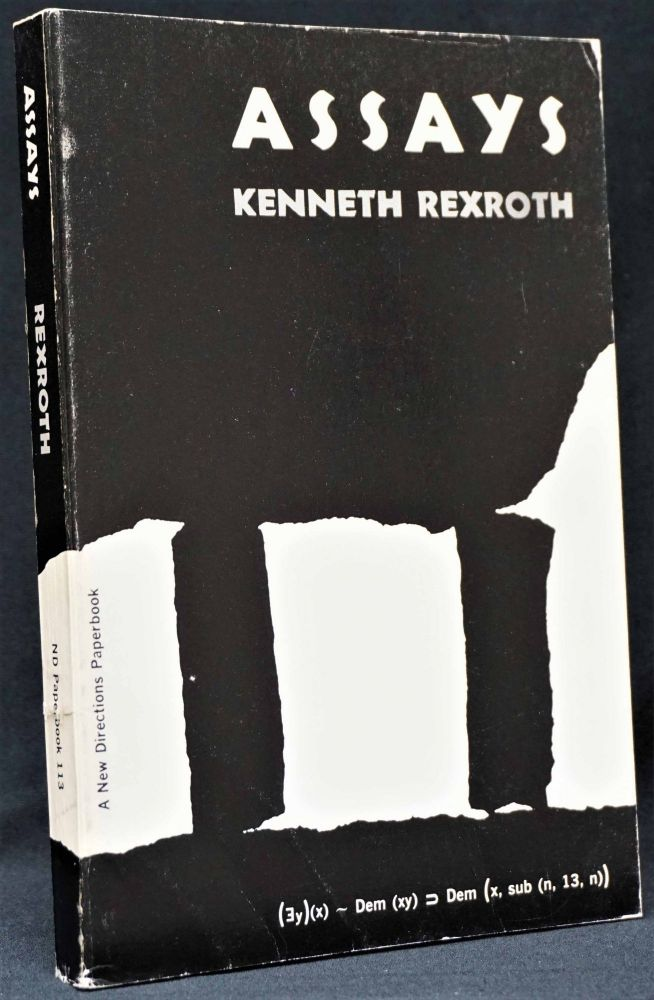 Assays. Kenneth Rexroth.