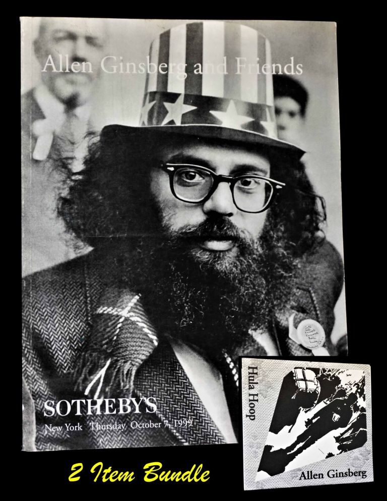 Auction Catalog, Allen Ginsberg and Friends: Sotheby's, New York, Thursday October 7, 1999 with: Bonus Item. Allen Ginsberg.