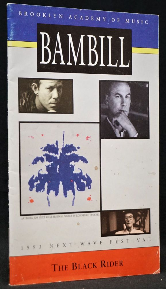 Playbill for Brooklyn Academy of Music's Production of The Black Rider. William S. Burroughs, Tom Waits, Robert Wilson.