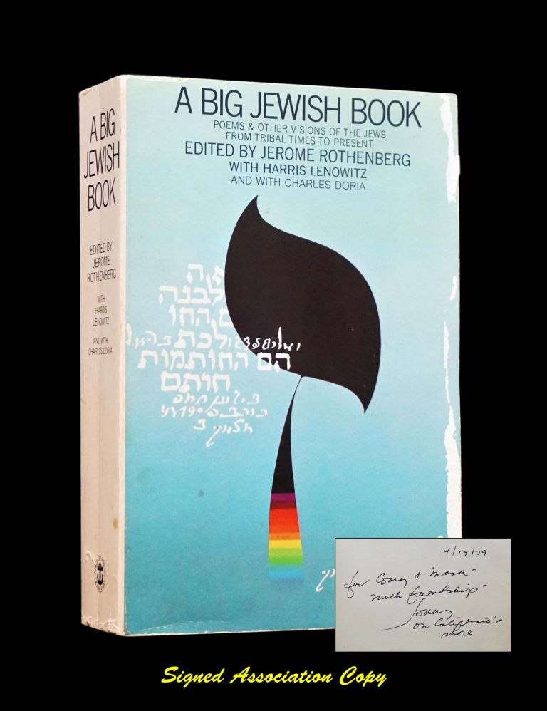 A Big Jewish Book: Poems & Other Visions of the Jews from Tribal Times to Present. Gary Snyder, Masa Uehara, Jerome- Rothenberg.