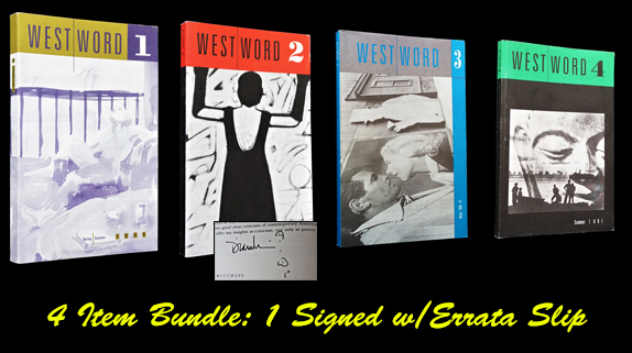 West Word Numbers 1-4. T. Coraghessan Boyle, Cecilia Manguerra Brainard, Ellen Byron, Christopher...