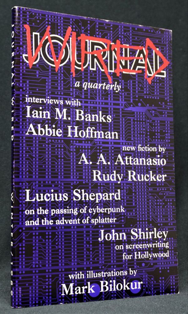 Journal Wired, No.1, Winter 1989. Iain M. Banks, Abbie Hoffman.