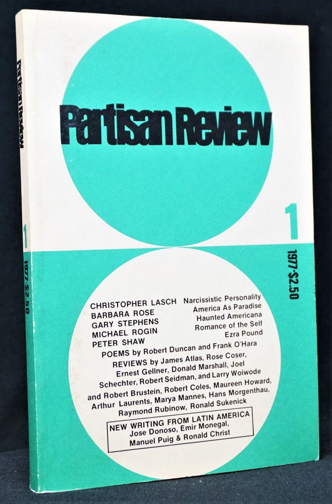 Partisan Review, Vol. XLIV, No. 1, 1977. Jimmy Carter, Robert Duncan, Frank O'Hara, Ezra Pound, Manuel Puig.