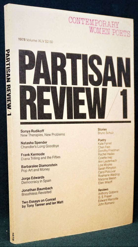 Partisan Review, Vol. XLV, No. 1, 1978. William Phillips, Leo Castelli, Joseph Conrad, Barbaralee...