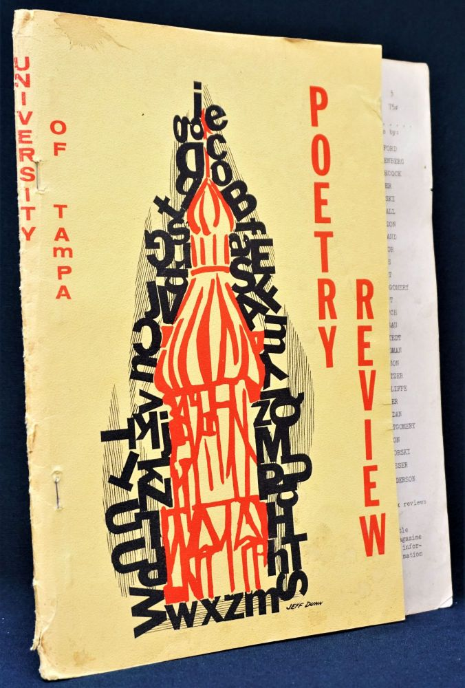 University of Tampa Poetry Review, No. 3, 1964. Kirby Congdon, Jeff Dunn, David Meltzer, Margaret...