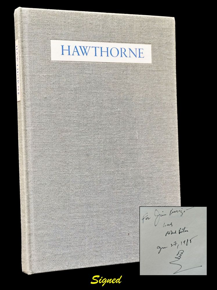 Hawthorne: Poems Adapted from the American Notebooks. Robert Peters, Carol Yeh.